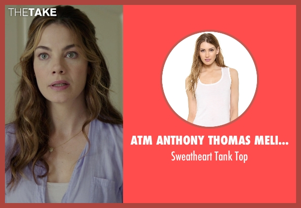 ATM Anthony Thomas Melillo white top from The Best of Me seen with Michelle Monaghan (Amanda Collier)