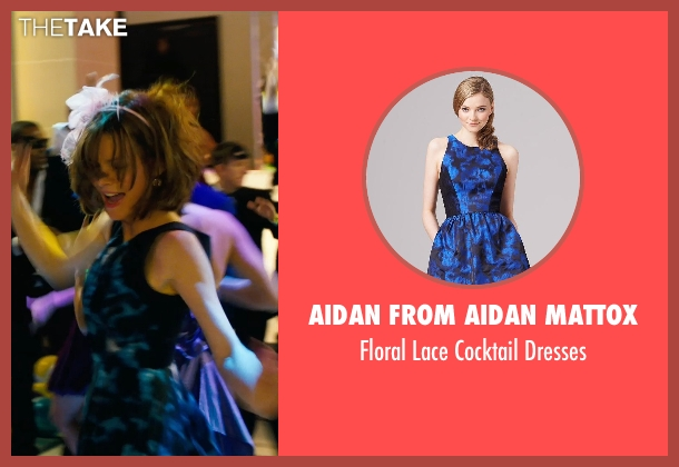Aidan from Aidan Mattox blue dresses from New Year's Eve seen with Michelle Pfeiffer (Ingrid )