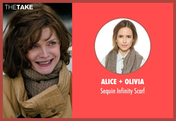 Alice + Olivia brown scarf from New Year's Eve seen with Michelle Pfeiffer (Ingrid )