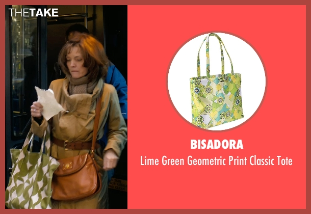 Bisadora green tote from New Year's Eve seen with Michelle Pfeiffer (Ingrid )