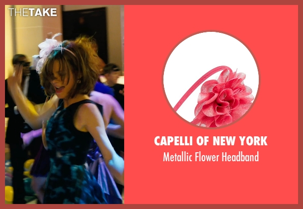 Capelli of New York pink headband from New Year's Eve seen with Michelle Pfeiffer (Ingrid )