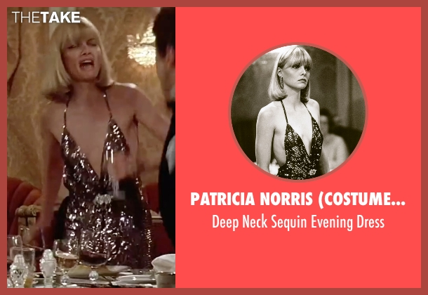 Patricia Norris (Costume Designer) black dress from Scarface seen with Michelle Pfeiffer (Elvira Hancock)