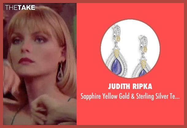 Judith Ripka blue earrings from Scarface seen with Michelle Pfeiffer (Elvira Hancock)