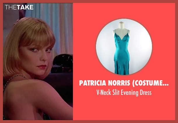 Patricia Norris (Costume Designer) green dress from Scarface seen with Michelle Pfeiffer (Elvira Hancock)