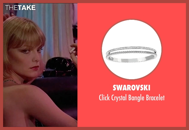 Swarovski  silver bracelet from Scarface seen with Michelle Pfeiffer (Elvira Hancock)