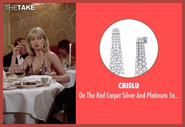 Crislu silver earrings from Scarface seen with Michelle Pfeiffer (Elvira Hancock)