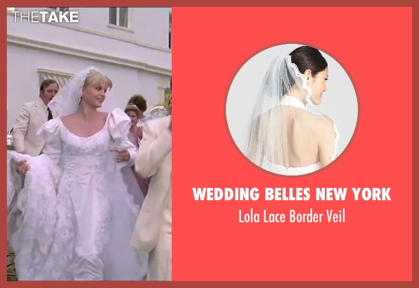 Wedding Belles New York white veil from Scarface seen with Michelle Pfeiffer (Elvira Hancock)