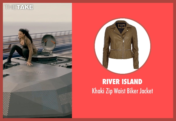 River Island beige jacket from Fast & Furious 6 seen with Michelle Rodriguez (Letty Ortiz)
