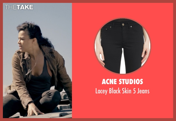 Acne Studios black jeans from Fast & Furious 6 seen with Michelle Rodriguez (Letty Ortiz)