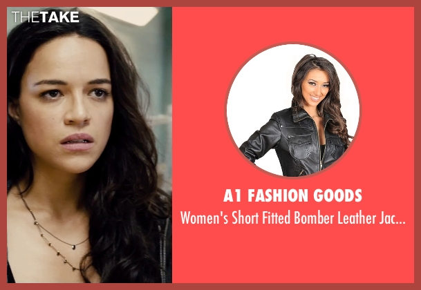 A1 Fashion Goods black jacket from Furious 7 seen with Michelle Rodriguez (Letty Ortiz)