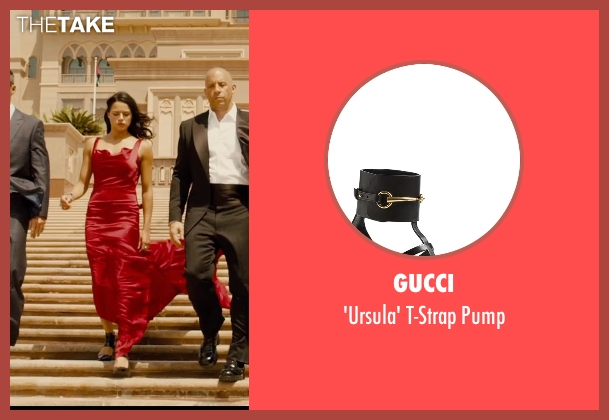 Gucci black pump from Furious 7 seen with Michelle Rodriguez (Letty Ortiz)