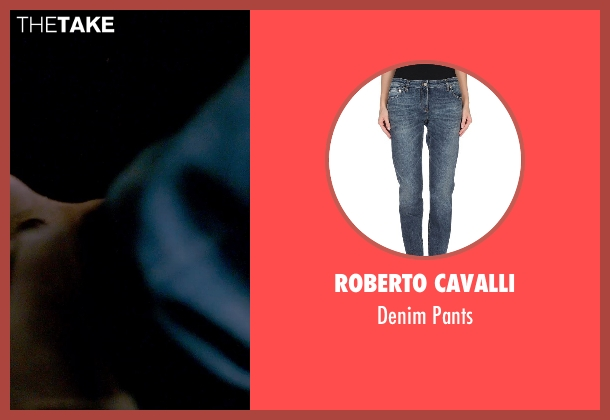Roberto Cavalli blue pants from Furious 7 seen with Michelle Rodriguez (Letty Ortiz)