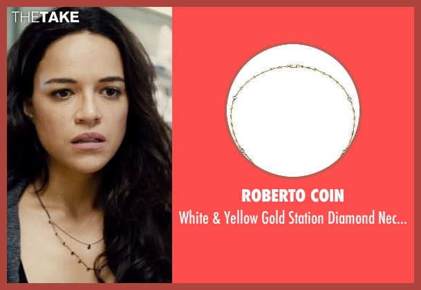 Roberto Coin gold necklace from Furious 7 seen with Michelle Rodriguez (Letty Ortiz)