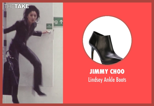 Jimmy Choo black boots from Tomorrow Never Dies seen with Michelle Yeoh (Wai Lin)