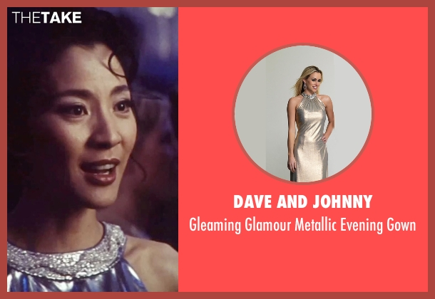 Dave And Johnny gray gown from Tomorrow Never Dies seen with Michelle Yeoh (Wai Lin)
