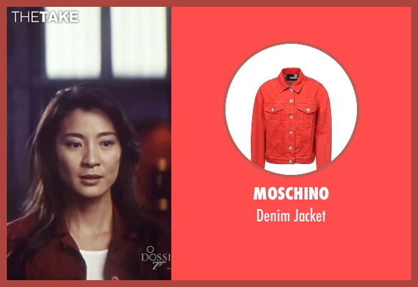 Moschino red jacket from Tomorrow Never Dies seen with Michelle Yeoh (Wai Lin)