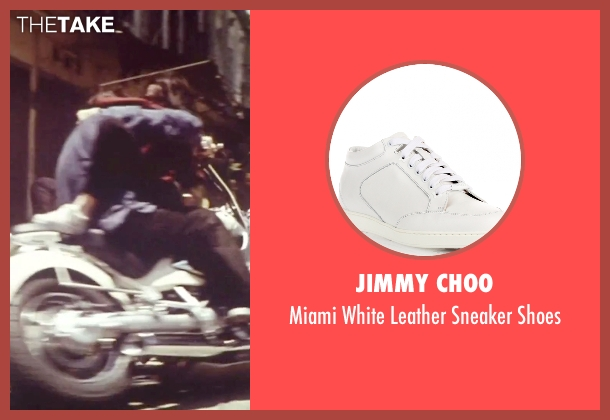 Jimmy Choo white shoes from Tomorrow Never Dies seen with Michelle Yeoh (Wai Lin)