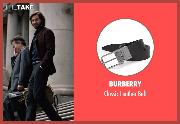 Burberry black belt from The Age of Adaline seen with Michiel Huisman (Ellis)