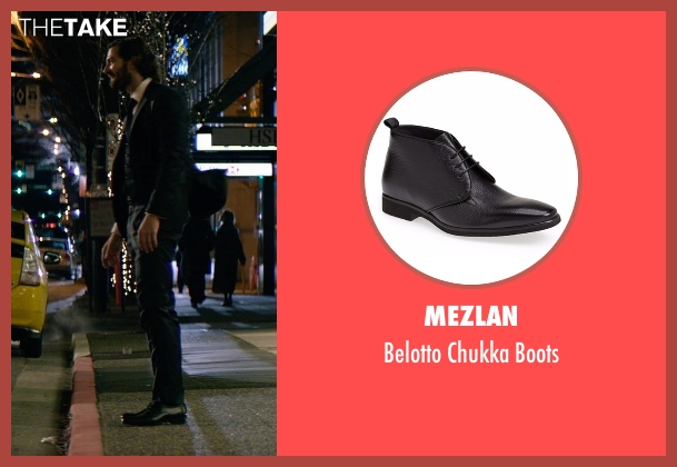 Mezlan black boots from The Age of Adaline seen with Michiel Huisman (Ellis)