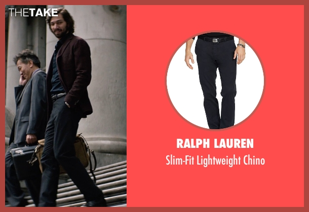 Ralph Lauren black chino from The Age of Adaline seen with Michiel Huisman (Ellis)