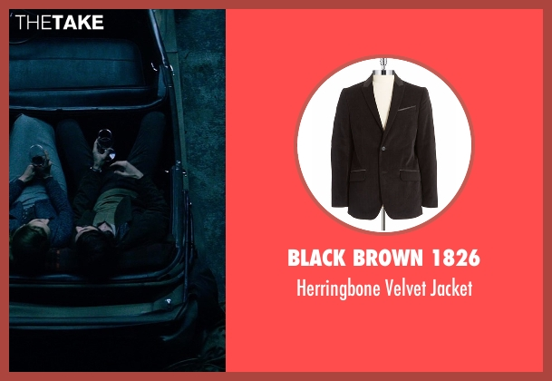Black Brown 1826 black jacket from The Age of Adaline seen with Michiel Huisman (Ellis)