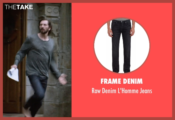 Frame Denim black jeans from The Age of Adaline seen with Michiel Huisman (Ellis)