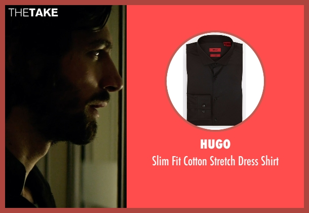 Hugo black shirt from The Age of Adaline seen with Michiel Huisman (Ellis)