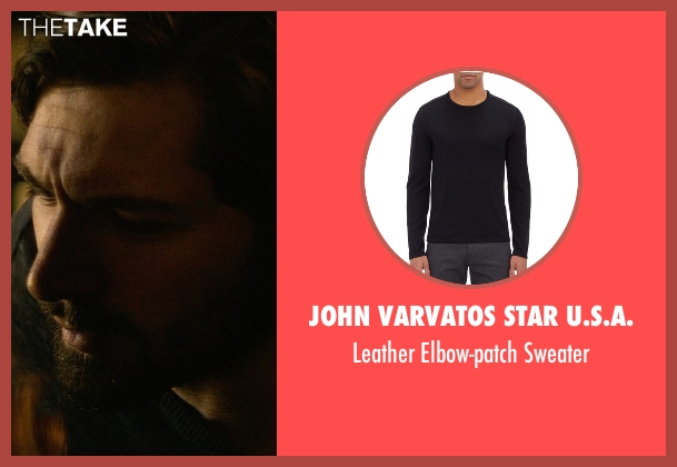 John Varvatos Star U.S.A. black sweater from The Age of Adaline seen with Michiel Huisman (Ellis)