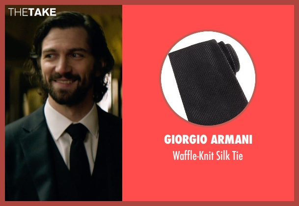Giorgio Armani	 black tie from The Age of Adaline seen with Michiel Huisman (Ellis)