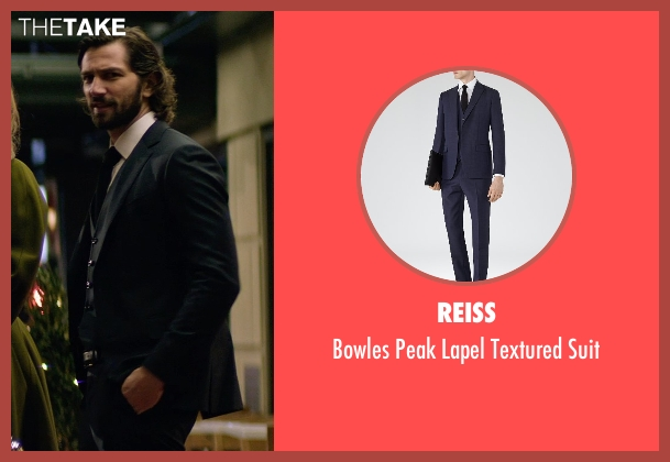 Reiss blue suit from The Age of Adaline seen with Michiel Huisman (Ellis)