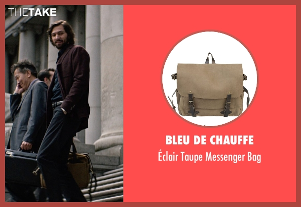 Bleu De Chauffe brown bag from The Age of Adaline seen with Michiel Huisman (Ellis)