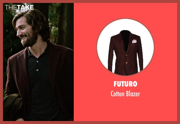Futuro brown blazer from The Age of Adaline seen with Michiel Huisman (Ellis)