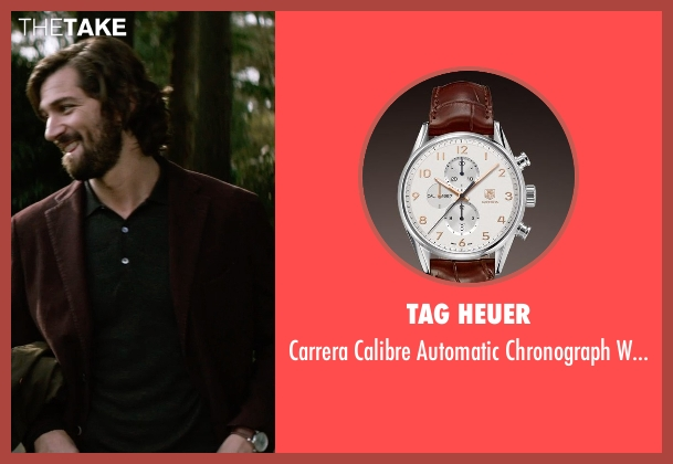Tag Heuer brown watch from The Age of Adaline seen with Michiel Huisman (Ellis)