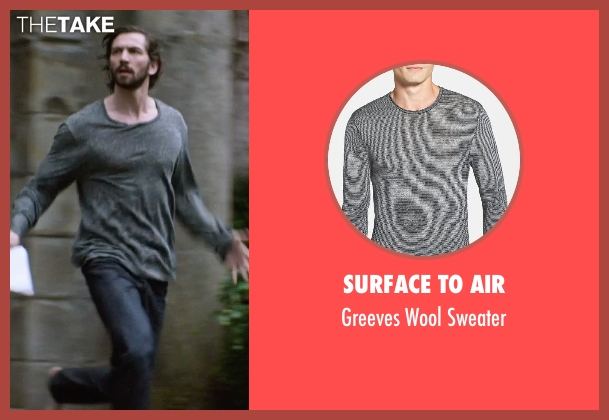 Surface To Air gray sweater from The Age of Adaline seen with Michiel Huisman (Ellis)