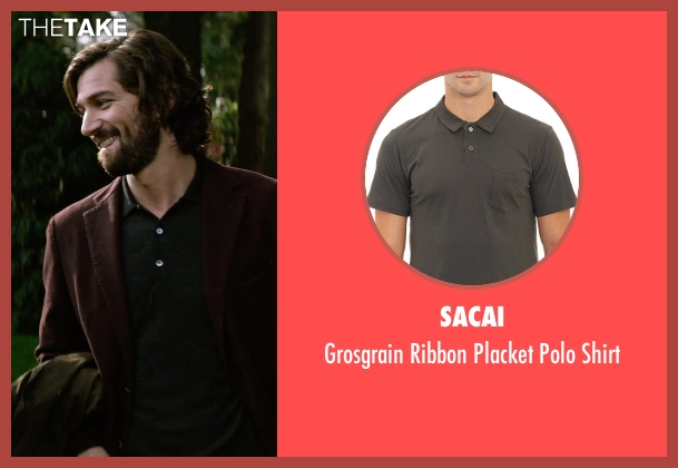 Sacai green shirt from The Age of Adaline seen with Michiel Huisman (Ellis)