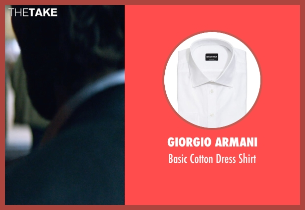 Giorgio Armani white shirt from The Age of Adaline seen with Michiel Huisman (Ellis)