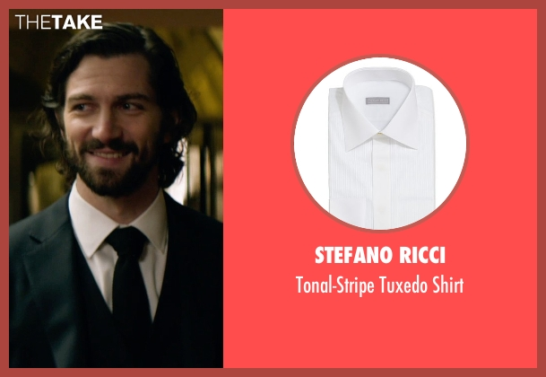 Stefano Ricci white shirt from The Age of Adaline seen with Michiel Huisman (Ellis)