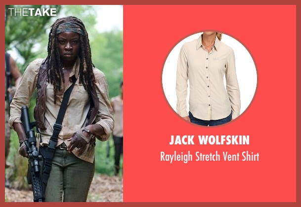 Jack Wolfskin beige shirt from The Walking Dead seen with Michonne (Danai Gurira)