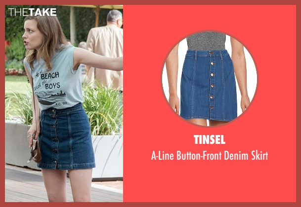 Tinsel blue skirt from Love seen with Mickey Dobbs (Gillian Jacobs)