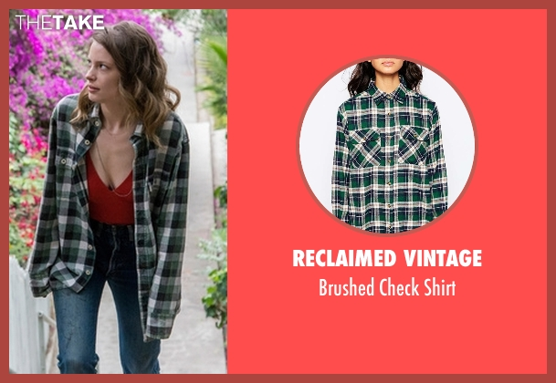 Reclaimed Vintage green shirt from Love seen with Mickey Dobbs (Gillian Jacobs)