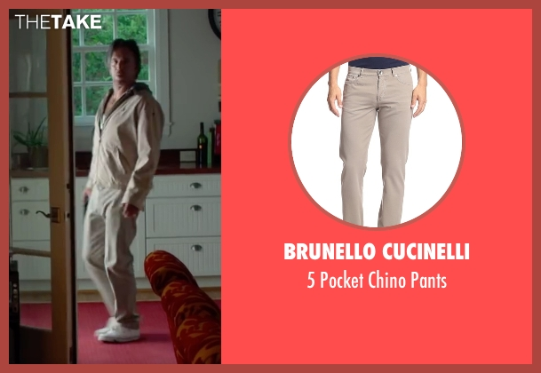 Brunello Cucinelli beige pants from Ashby seen with Mickey Rourke (Ashby Holt)