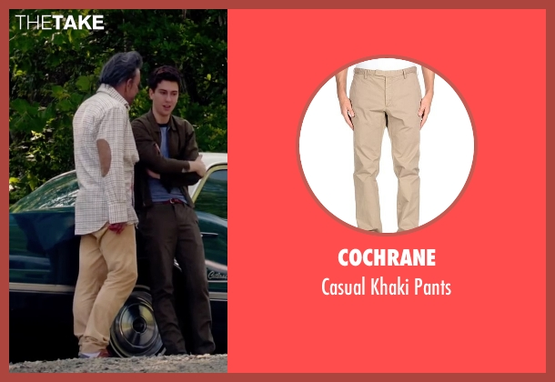 Cochrane beige pants from Ashby seen with Mickey Rourke (Ashby Holt)