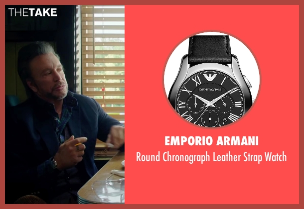 Emporio Armani black watch from Ashby seen with Mickey Rourke (Ashby Holt)