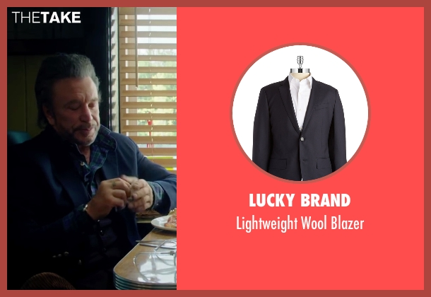 Lucky Brand blue blazer from Ashby seen with Mickey Rourke (Ashby Holt)