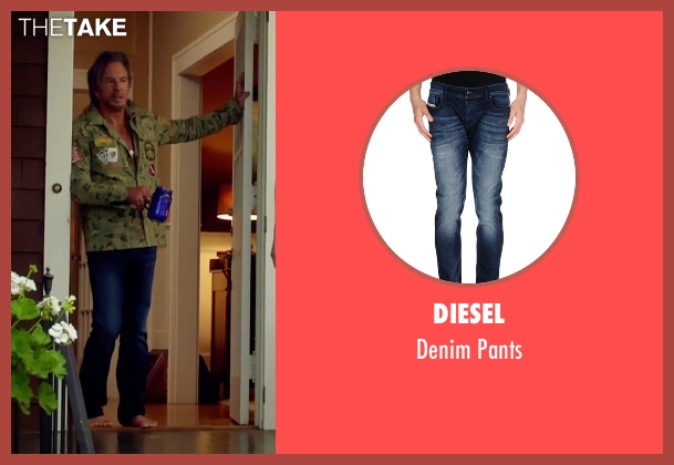 Diesel blue pants from Ashby seen with Mickey Rourke (Ashby Holt)