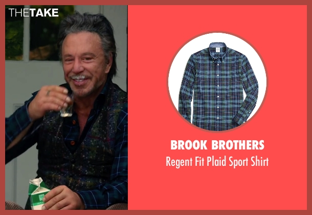 Brook Brothers blue shirt from Ashby seen with Mickey Rourke (Ashby Holt)