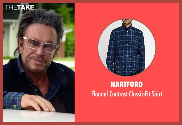 Hartford blue shirt from Ashby seen with Mickey Rourke (Ashby Holt)