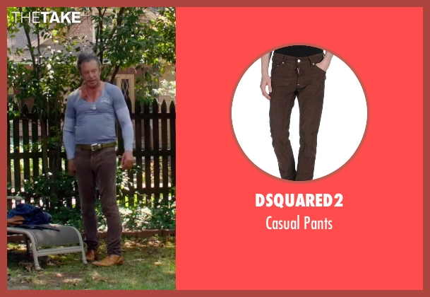 Dsquared2 brown pants from Ashby seen with Mickey Rourke (Ashby Holt)