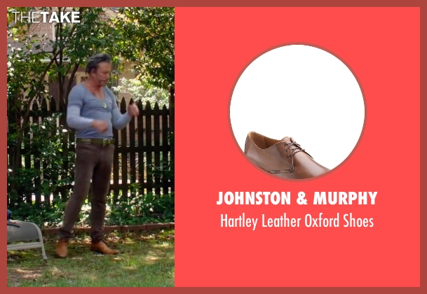 Johnston & Murphy brown shoes from Ashby seen with Mickey Rourke (Ashby Holt)