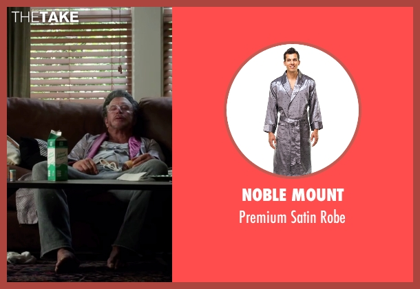 Noble Mount gray robe from Ashby seen with Mickey Rourke (Ashby Holt)